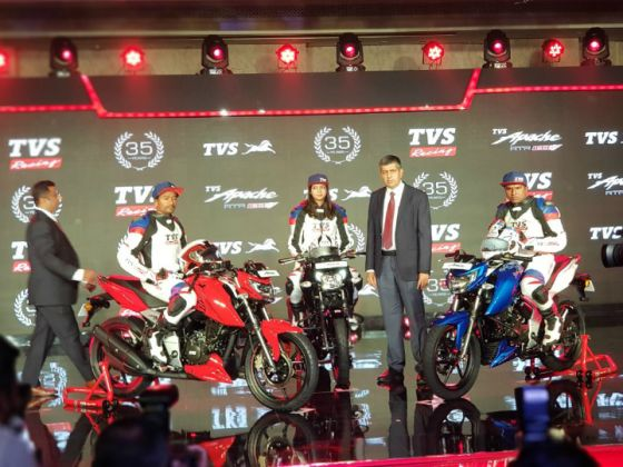 TVS Launches 2018 Apache RTR 160 4V