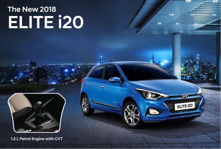 Hyundai Elite i20 Facelift Now Gets A Petrol-CVT Combo
