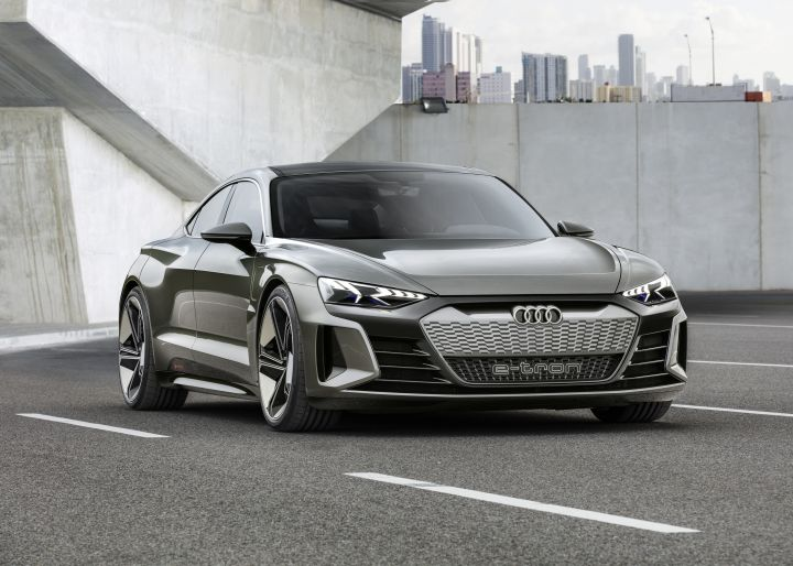 Audi e-tron GT concept previews eventual 590-hp Tesla fighter