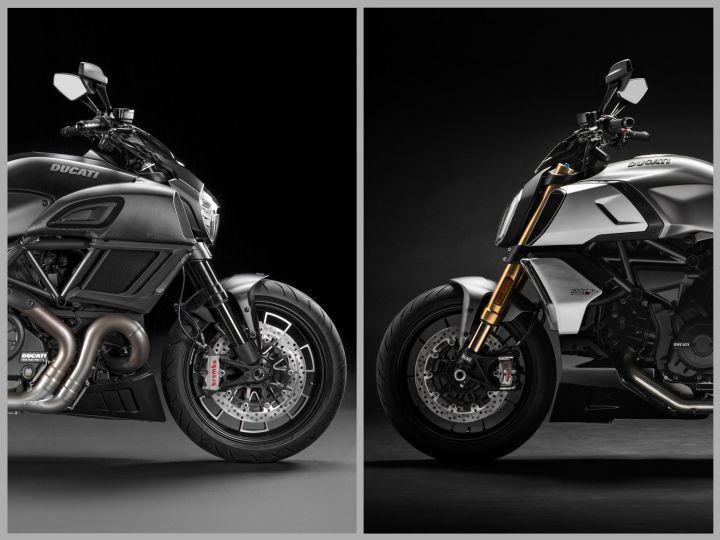 Ducati Diavel old vs new