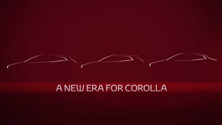 Toyota Corolla sedan teased ahead of official debut