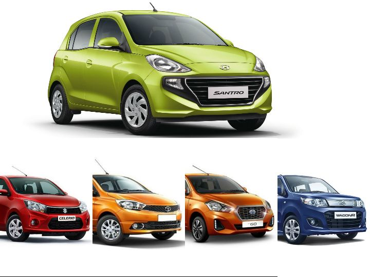 Hyundai Santro vs Competition