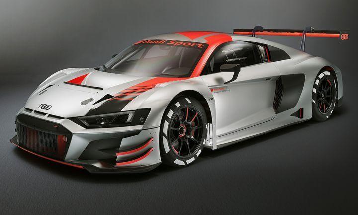 Audi R LMS GT Evo Showcased At Paris Motor Show ZigWheels - Audi r8 race car for sale