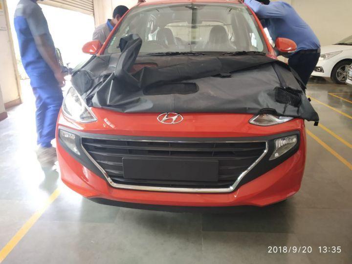 Hyundai Santro Spy Pic