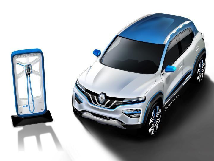 Renault K Ze Kwid Electric Concept Unveiled Paris Motor Show 2018