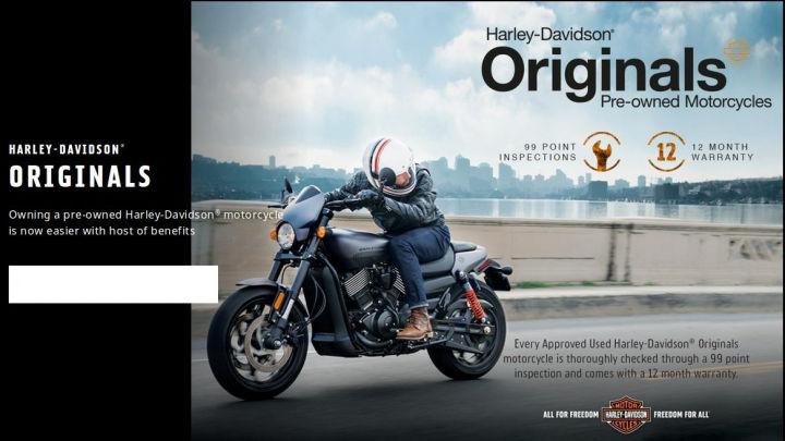 Freedom Harley Davidson >> Harley Davidson Enters Pre Owned Motorcycle Segment Zigwheels
