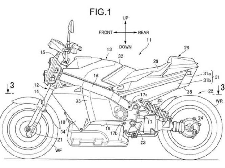 honda fuel cell bike patent
