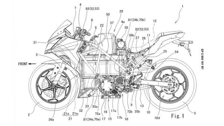kawasaki electric ninja patent