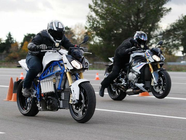 BMW electric bike race