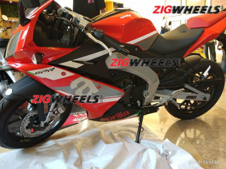 India-spec Aprilia RS 150 Spied
