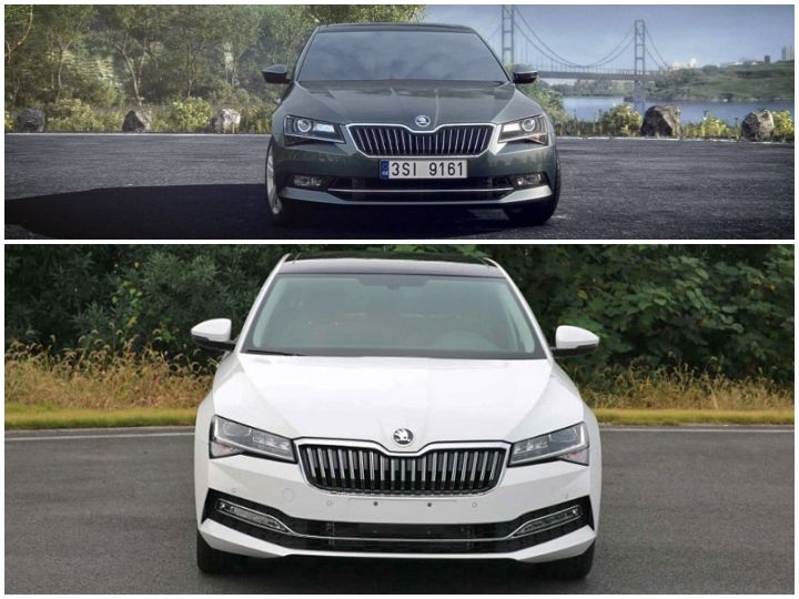 2019 Skoda Superb Facelift Photos Leaked Zigwheels