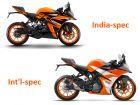 KTM RC 125: India vs International-spec - What's Different?
