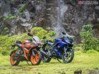 KTM RC 125 vs Yamaha R15 V3 Review: Image Gallery