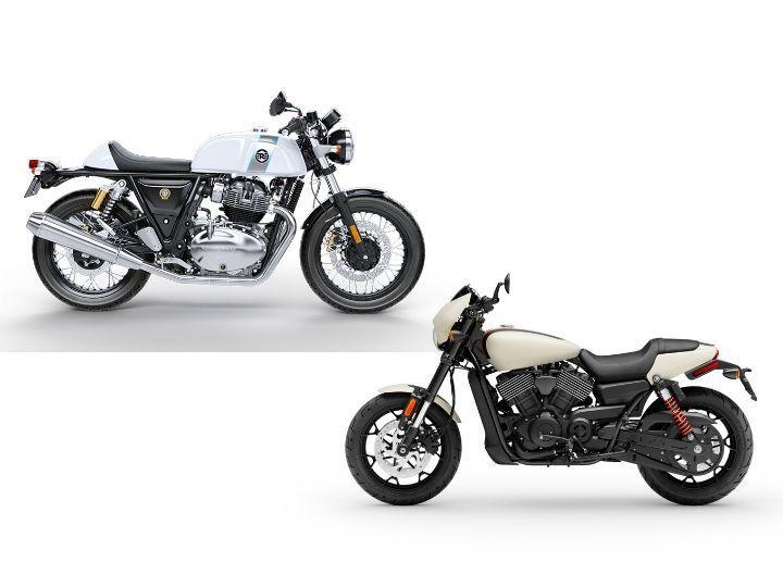 RE vs Harley Street Rod 1
