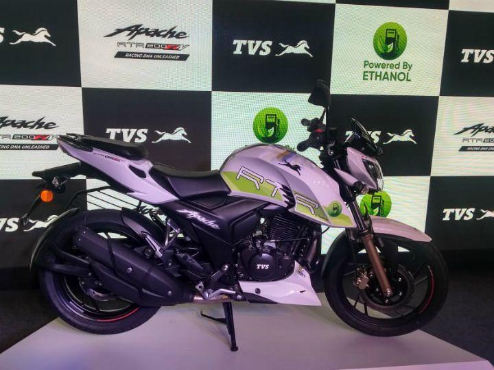 TVS Apache RTR 200 Fi E100 Ethanol bike launched
