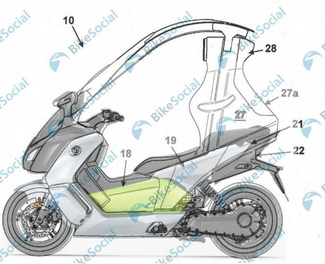 BMW Motorrad Working On A Roofed Electric Scooter