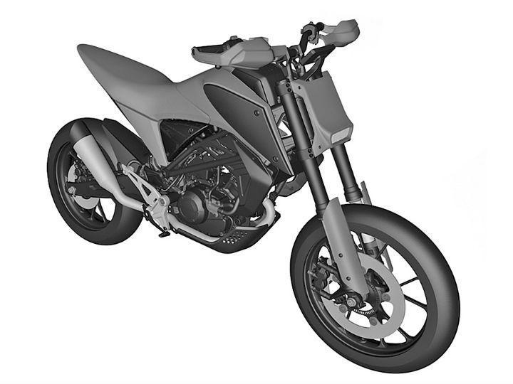 Honda CB125M patent