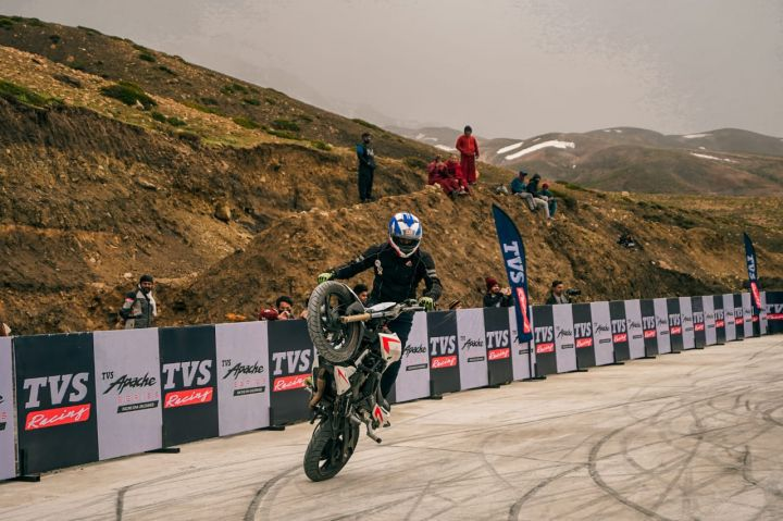 TVS Stunt Riders Enter Record Books By Performing At 14,800ft Above Sea Level