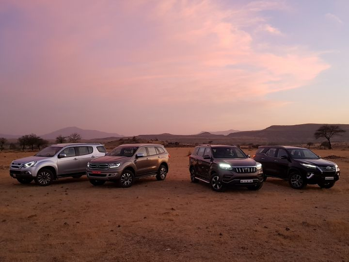 Endeavour vs Fortuner vs Alturas G4 vs MU X Comparison Review