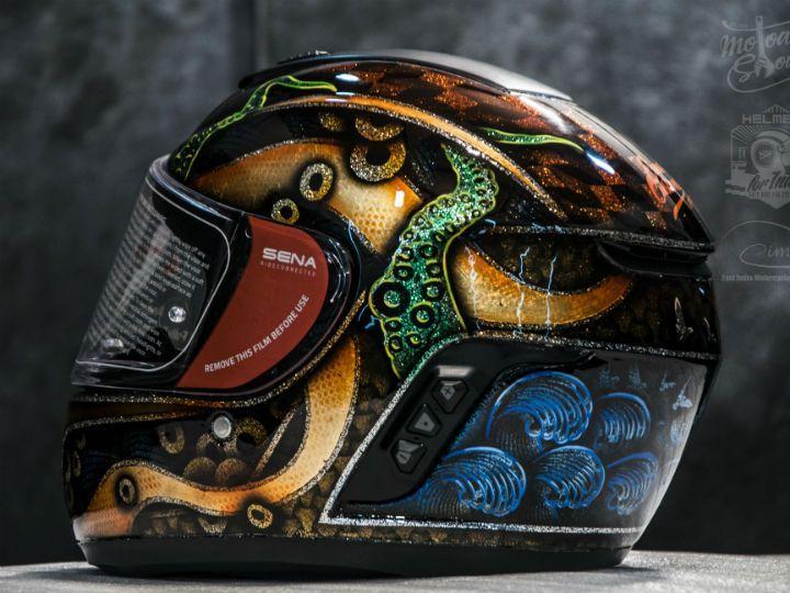 Sena helmet custom