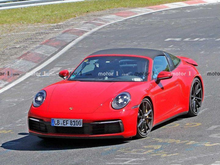 2020 Porsche 911 Targa Spied At The Nurburgring Zigwheels