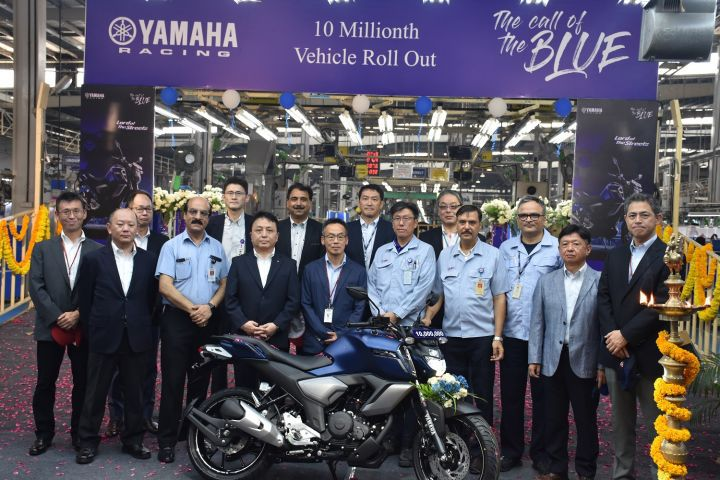 Yamaha India Crosses 10 Million Production Milestone