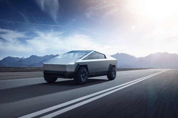 Elon Musk Unveils Futuristic Tesla Cybertruck Electric ...