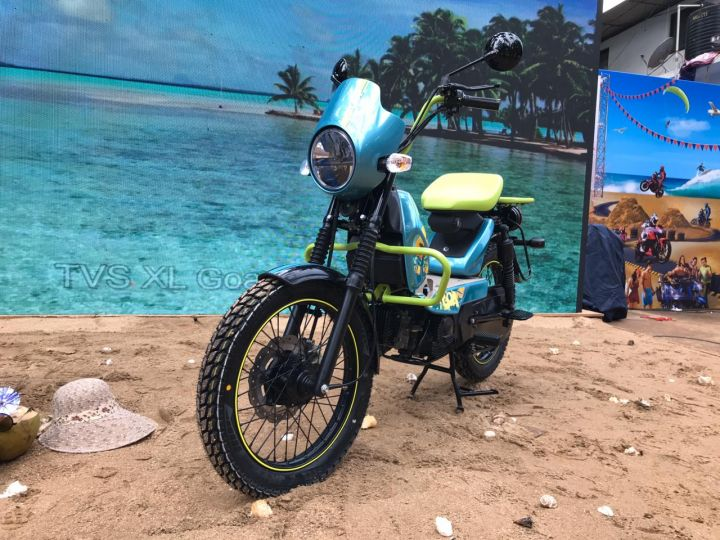 TVS XL100 Goa One-off Custom Moped Unveiled At MotoSoul