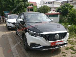 India-spec All-electric MG eZS Spied Inside-out