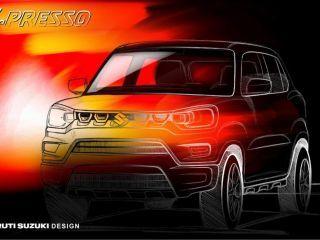 Production-spec Maruti Suzuki S-Presso Sketch Reveals A Funky Design