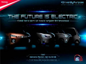 Mahindra Gives Us A Glimpse Of Its EV Lineup For Auto Expo 2020
