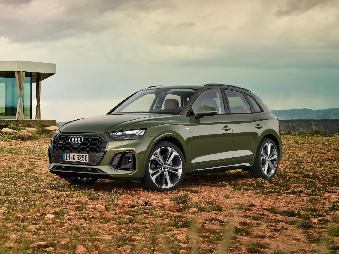 2021 audi q5 facelift revealed bmw x3 mercedes glc rival