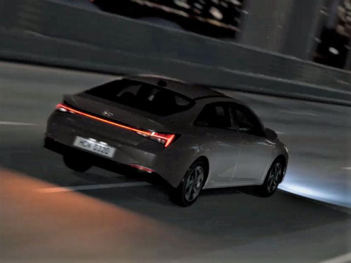 2021 hyundai elantra sedan teased ahead of its world debut