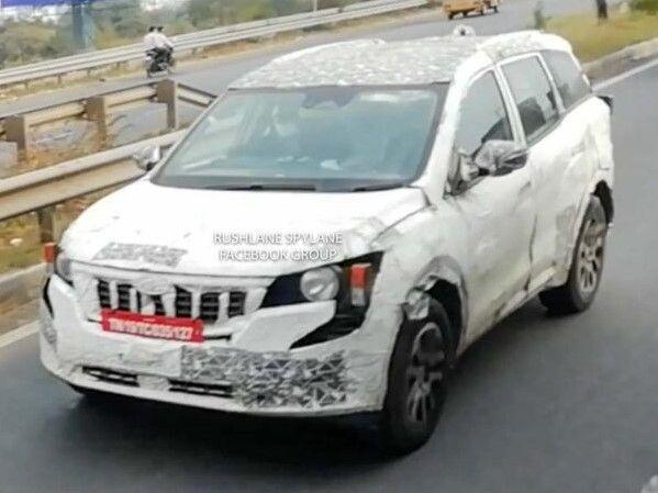 2021 Mahindra XUV500 2.0-litre Turbo-Petrol Version Spied Testing - Zigwheels.com