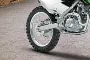 Rear Tyre View of KLX 140