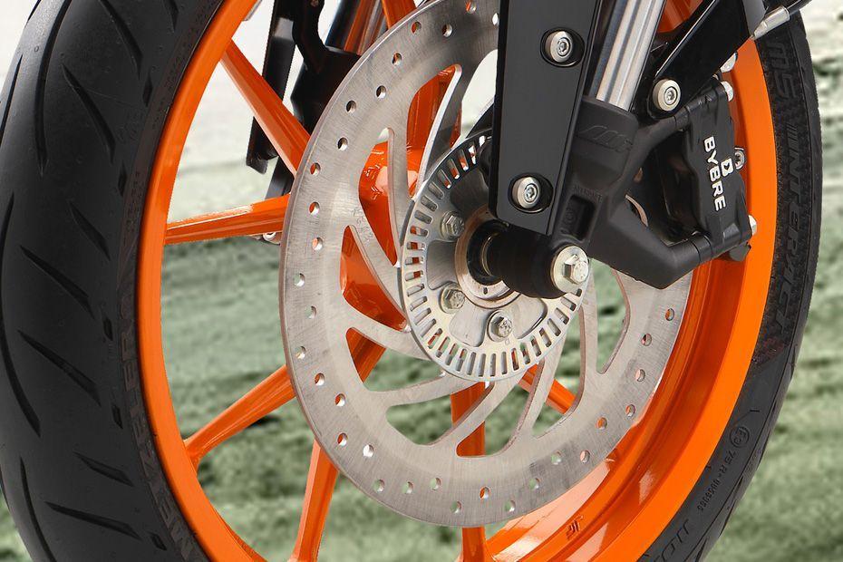 Front Brake View of 200 Duke