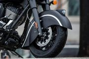 Front Tyre View of Chief Dark Horse