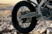Rear Tyre View of RM Z450