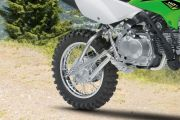 Rear Tyre View of KLX 110