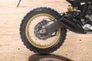 Rear Tyre View of Desert Sled