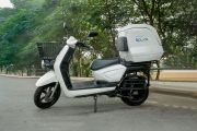 Left Side View of Spock Electric Scooter