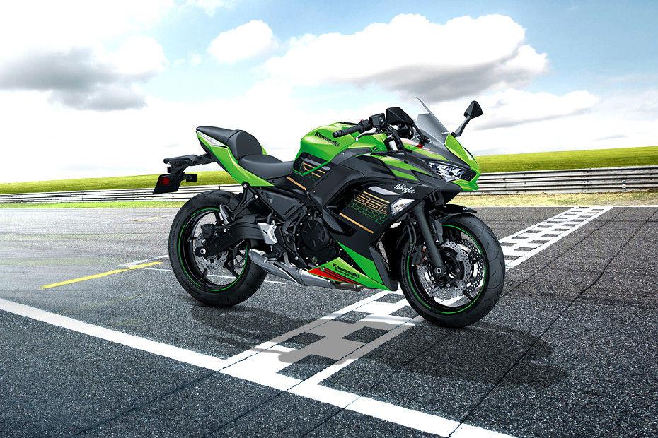 Front Left View of 2020 Ninja 650