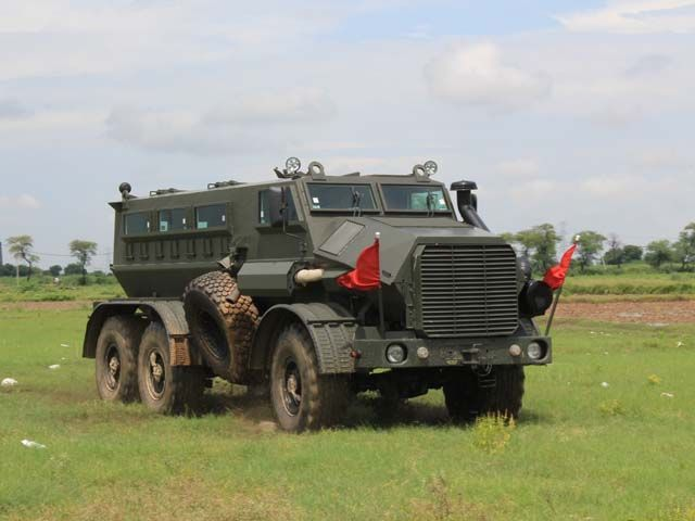 Mahindra S Mine Protected Vehicle Blast Proof Bulk