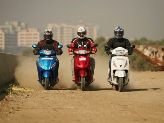 TVS Jupiter vs Honda Activa vs Hero Maestro comparison: In Pics!