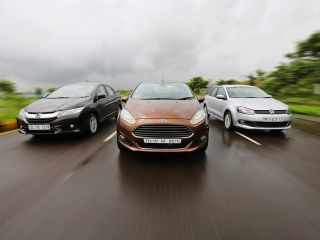 2014 Ford Fiesta vs New Honda City vs Volkswagen Vento Diesel Comparison Review: Photo Gallery