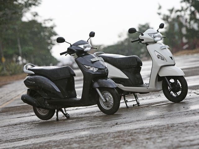 Yamaha Cygnus alpha vs tvs jupiter scooter shootout