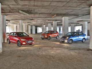 Hyundai Elite i20 vs Honda Amaze vs Ford EcoSport Comparison Review Photo Gallery