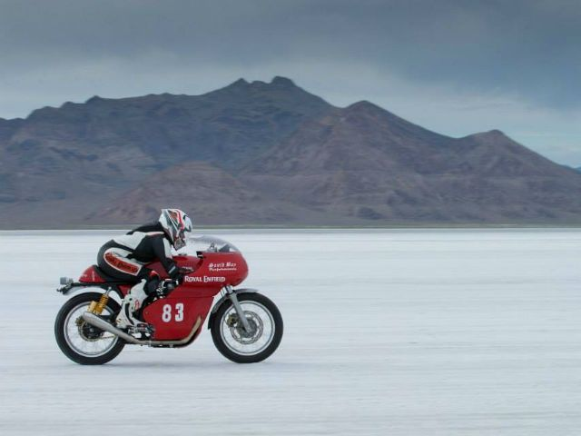 Royal Enfield Continental GT at Bonneville