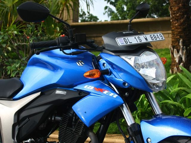 Suzuki Gixxer design blue bike