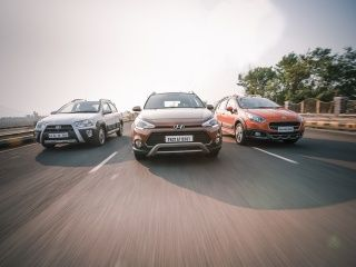 Hyundai i20 Active vs Toyota Etios Cross vs Fiat Avventura Comparison Review Gallery